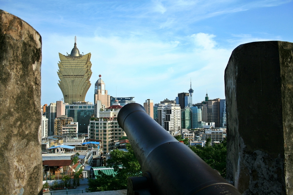 central macau viewed from monte fort