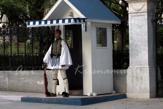 Evzone-presidential guard