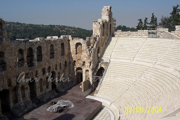 Odeon of Herodes Atticus-Yanni's Live at the Acropolis performance in September 1993