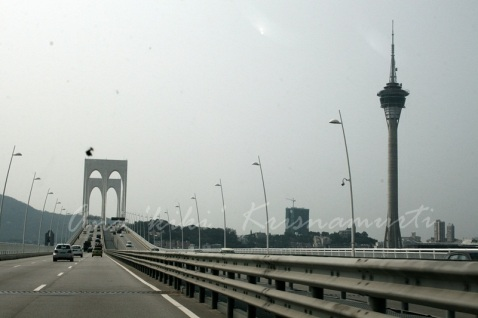 Sai Van Bridge & macau tower