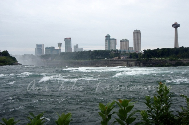 niagara river-ontario and the skylon tower