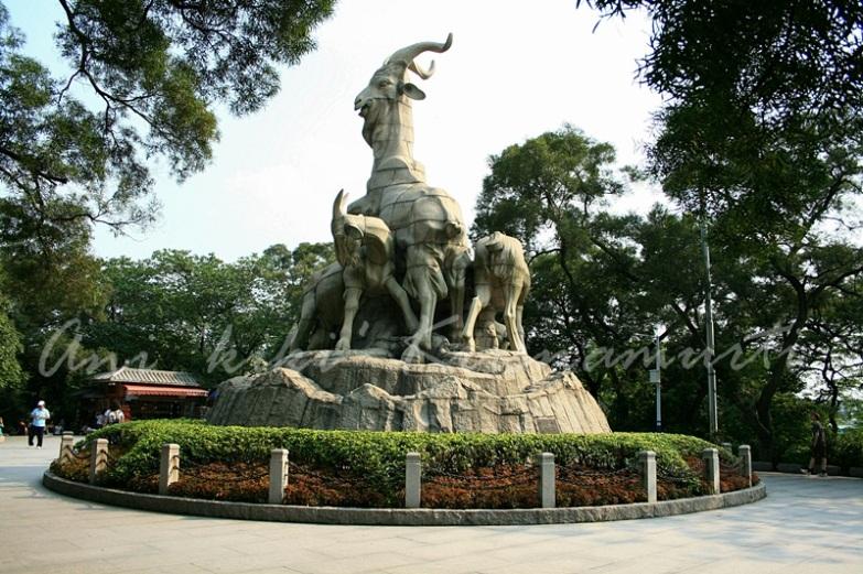 guangzhou: Five rams statue