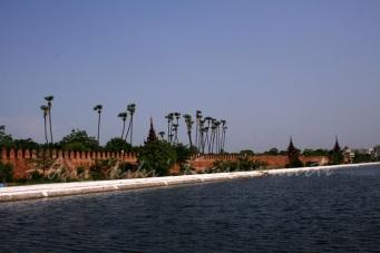 palace wall & irawaddy river