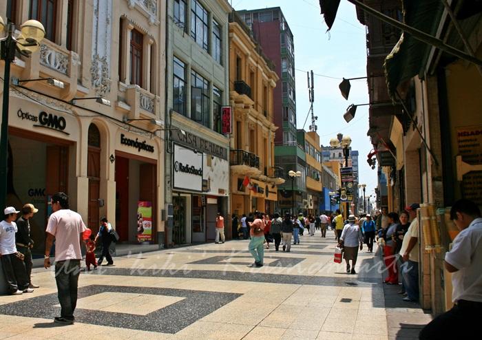 jiron de la union- historic pedestrian street