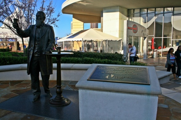 John Pamberton statue- the inventor of Coca Cola