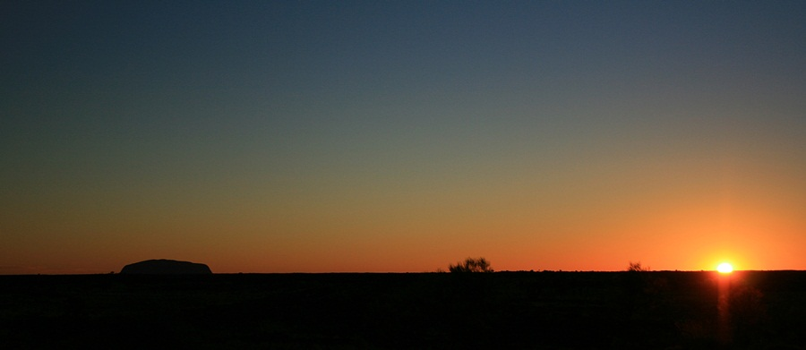 ayers rock-sunrise