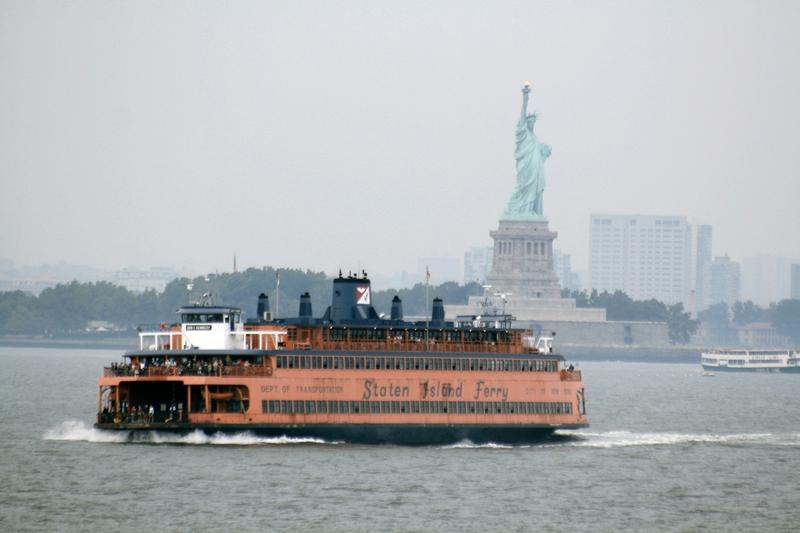liberty island, staten island ferry