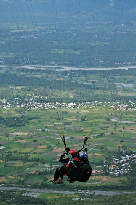 paragliding over matimali hill-pic taken by my friend