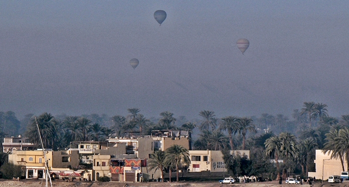 Hot-air ballooning over the west bank