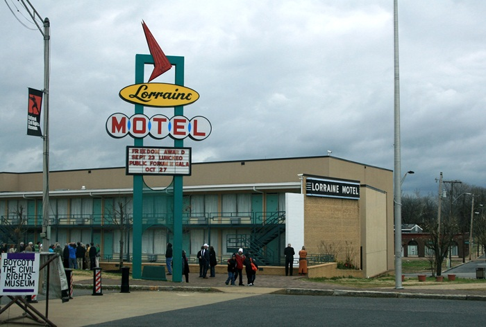 .Lorraine Motel-Martin Luther Jr was assassinated