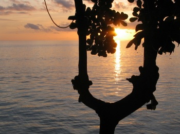 sunset at bunaken