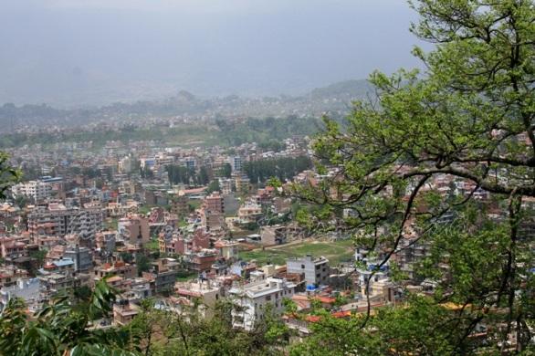 kathmandu city seen from swayambunath