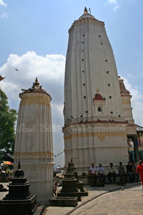 Shikhar style temple erected by king Pratap Malla