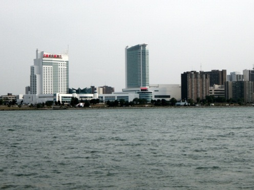 windsor,ontario,canada- seen from detroit