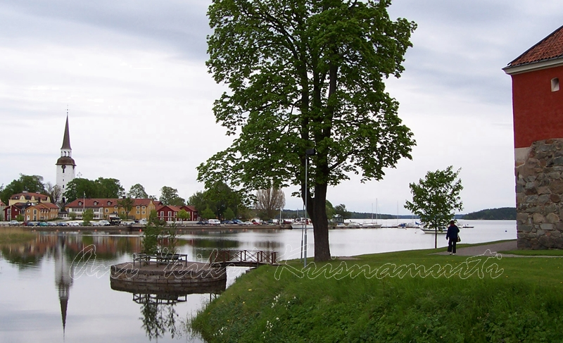 mariefred seen from gripsholm castle