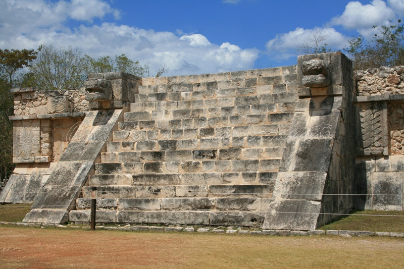 Venus Platform in the Great Plaza, Chichen Itza.