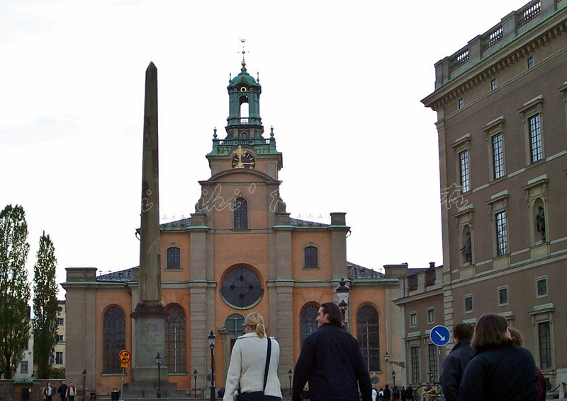 Sankt Nikolai kyrka (Church of St. Nicholas), most commonly known as Storkyrkan (The Great Church) and Stockholms domkyrka (Stockholm Cathedral), is the oldest church in Gamla Stan