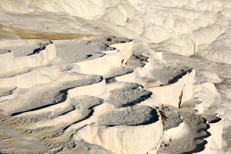 Travertine terrace formations