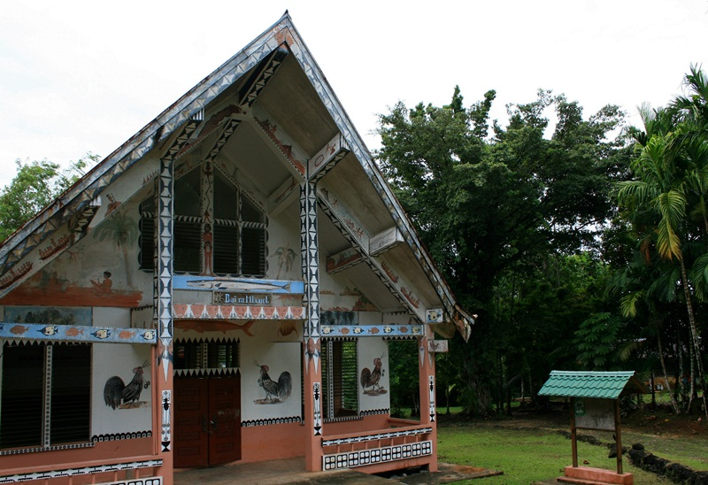 A traditional Palauan hut