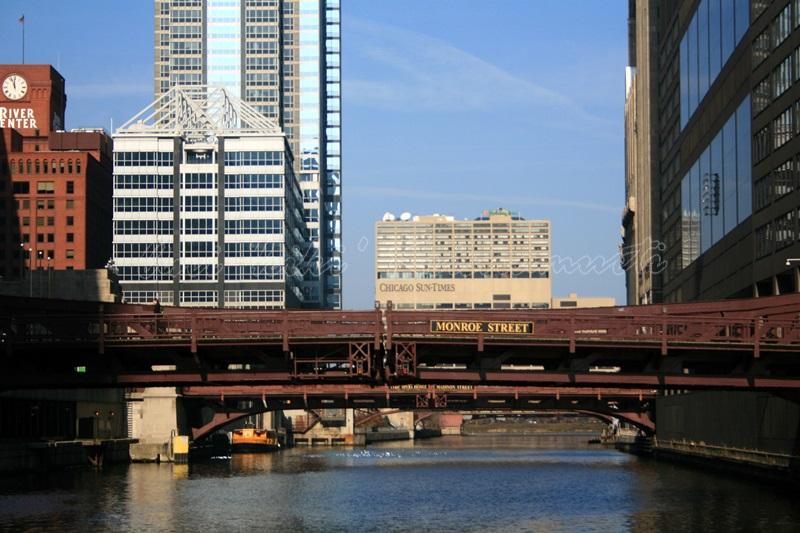 chicago river, chicago, USA
