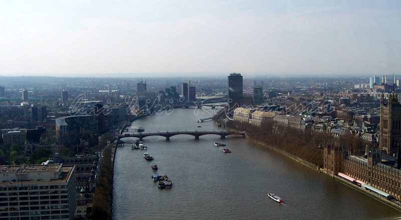 thames river taken from london eye