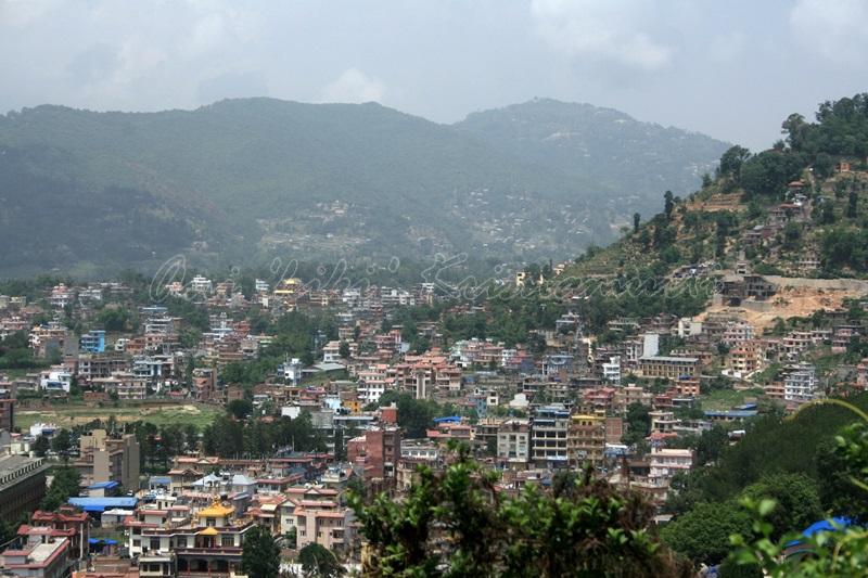 kathmandu taken from swayambunath