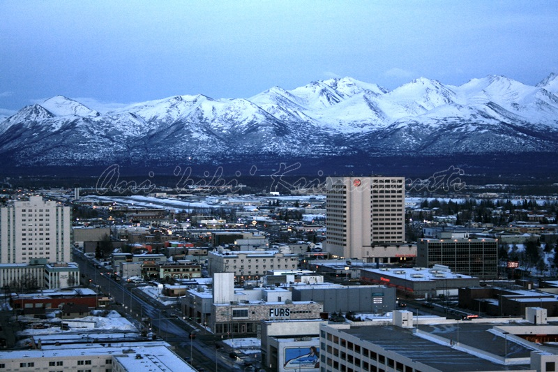anchorage, alaska, taken from hilton anchorage