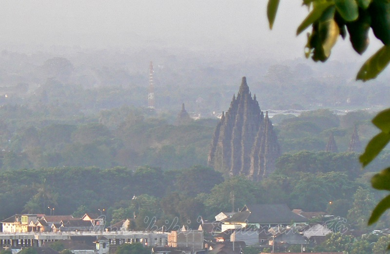 prambanan temple seen from ratu boko