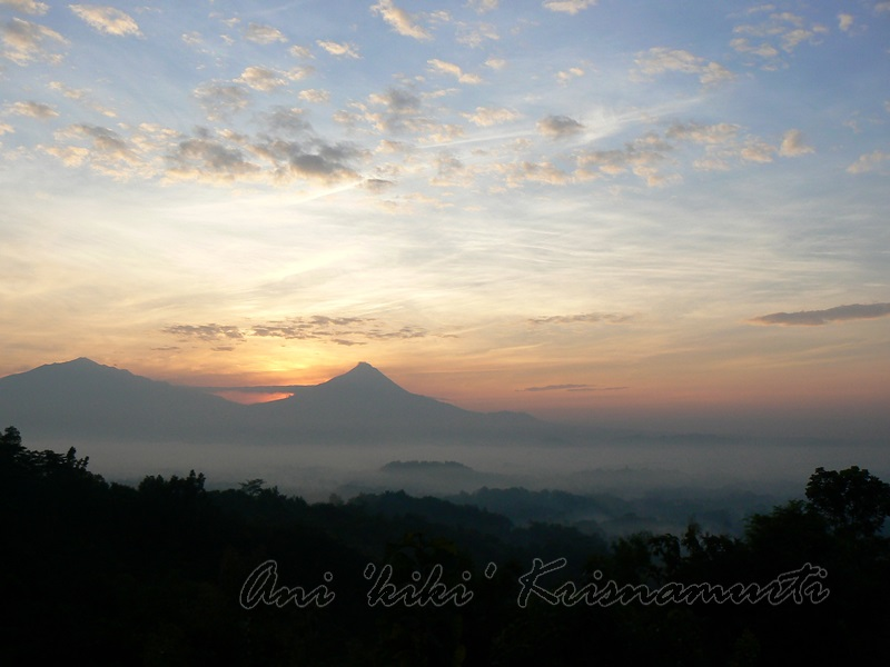 merapi & merbabu mt seen from punthuk setumbu