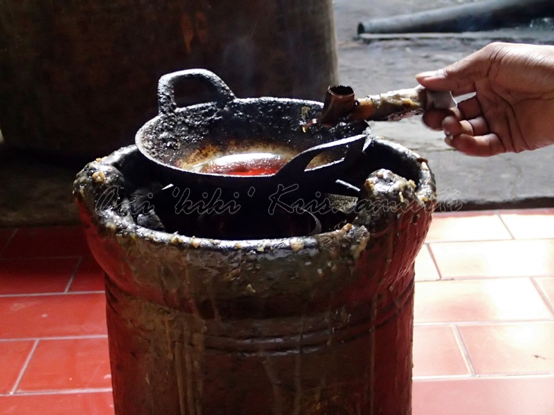 canting. a pen -like tool use to apply liquid hot wax in the batik-making process