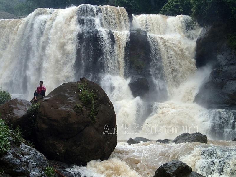malela waterfall, west bandung